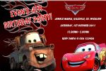 Personalised Disney Cars Invitations Design 2